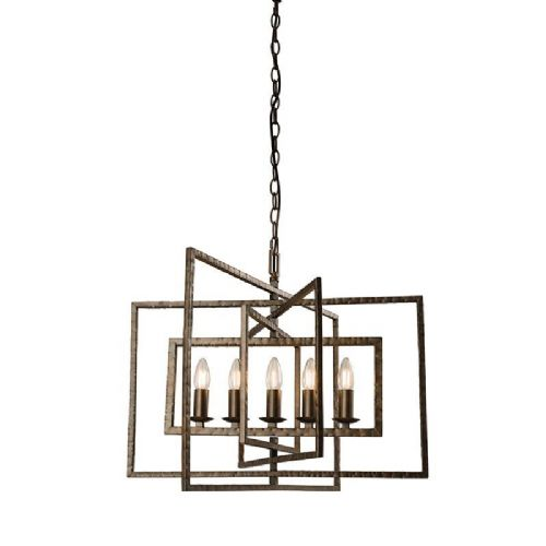 Bronze hammered effect paint Pendant Light 61017 by Endon